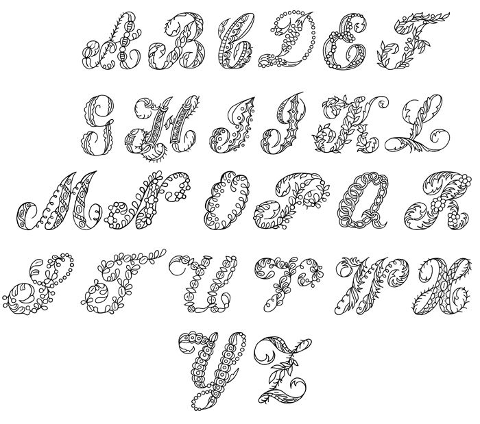 Fancy Bubble Letters