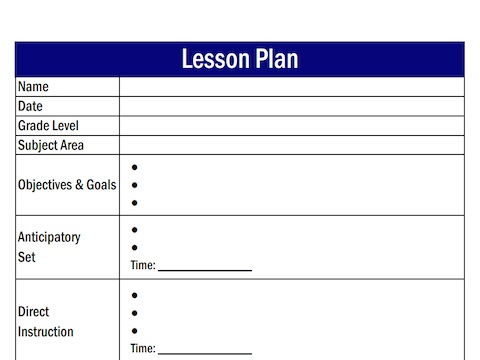 Attractive Lesson Plan Templates Word Model Resume Ideas