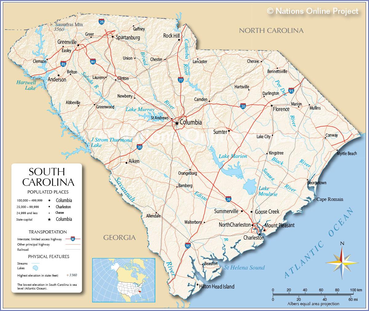 Maps of South Carolina