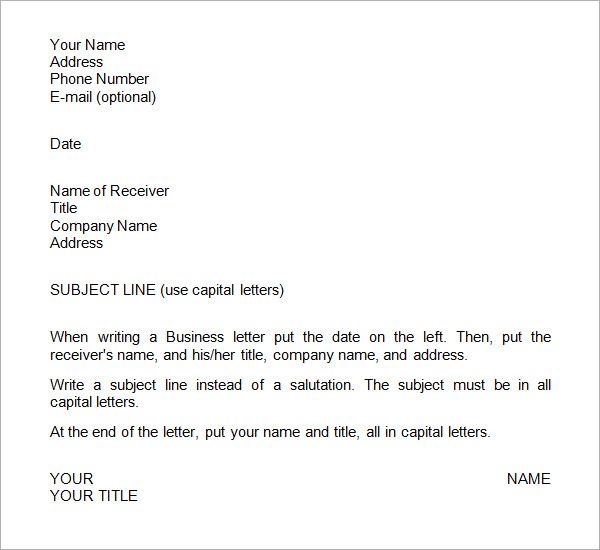 Business Letter Format Fotolip