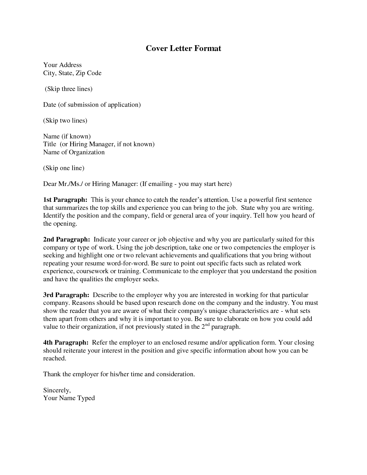 Cover letter format rich image and wallpaper for How to structure a covering letter