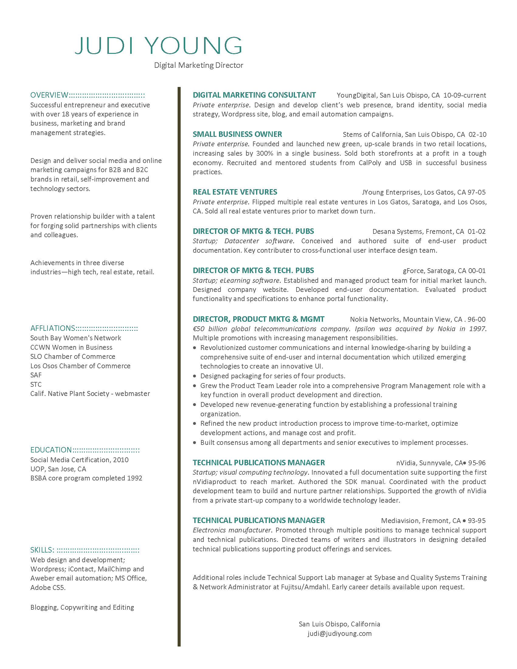 Digital Marketing Resume Fotolip