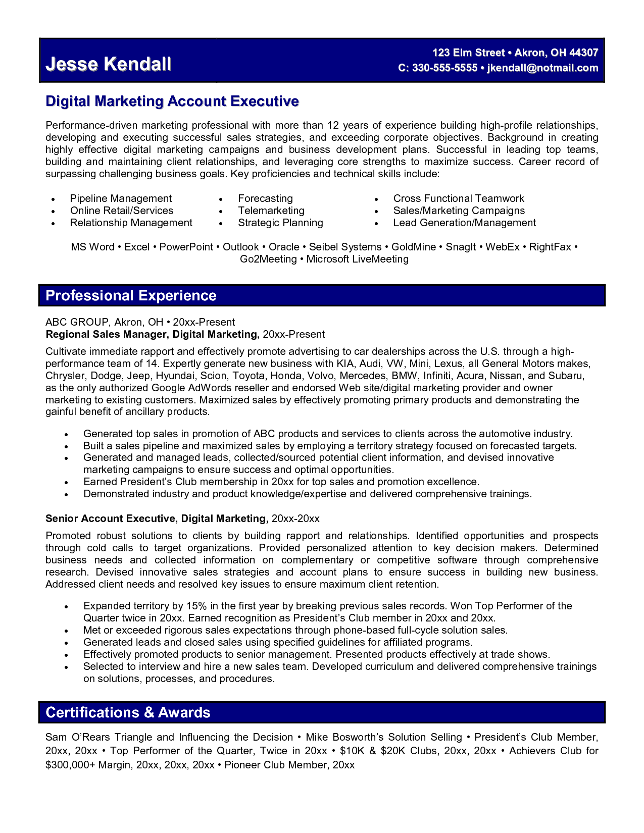 Digital Marketing Resume Fotolip Com Rich Image And Wallpaper