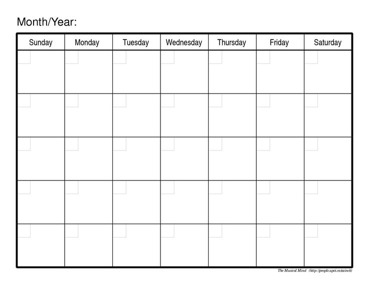 Free Calendar Templates