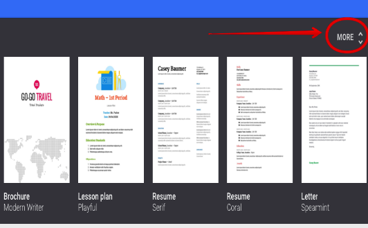 Google Docs Templates  Google Doc Resume Templates