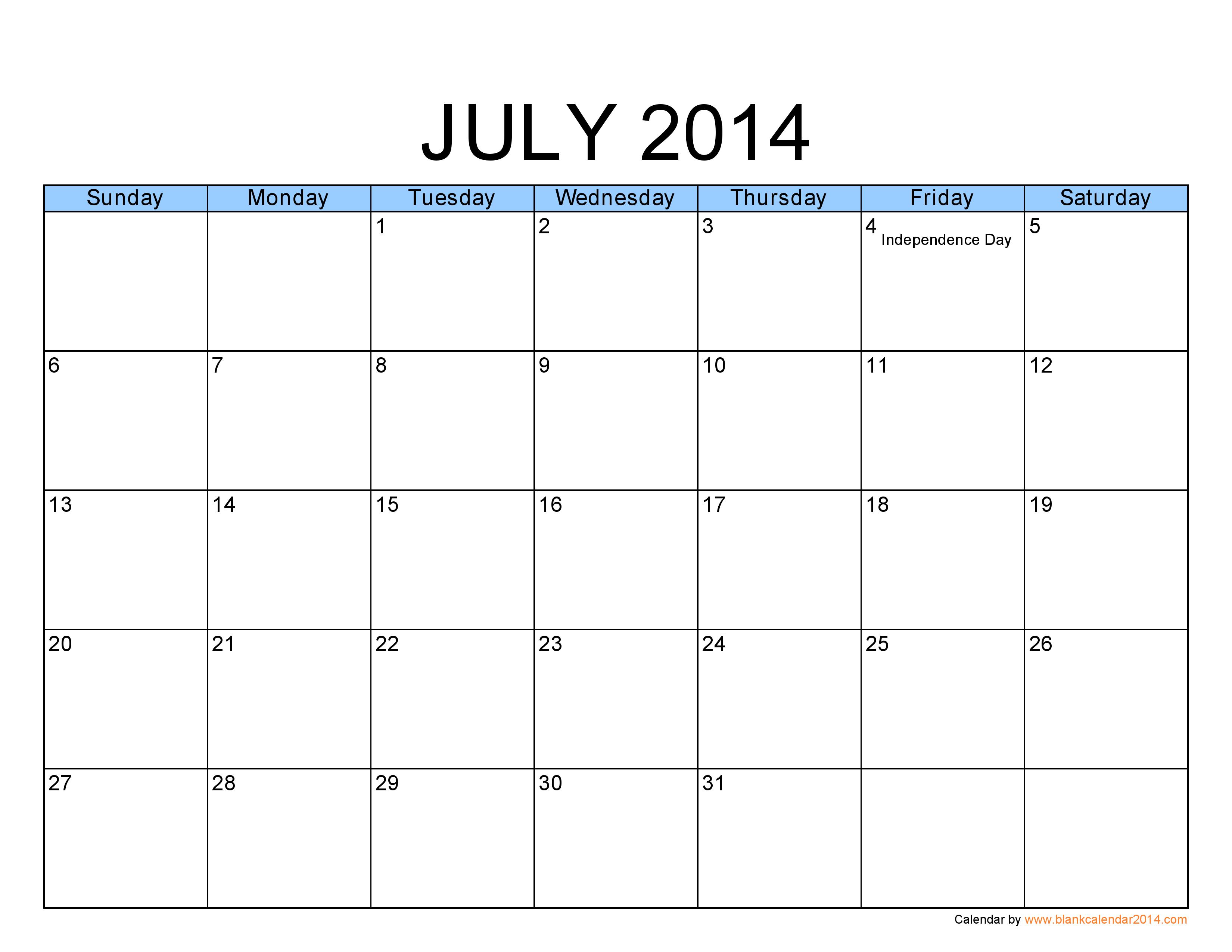 July Calendar | Fotolip.com Rich image and wallpaper