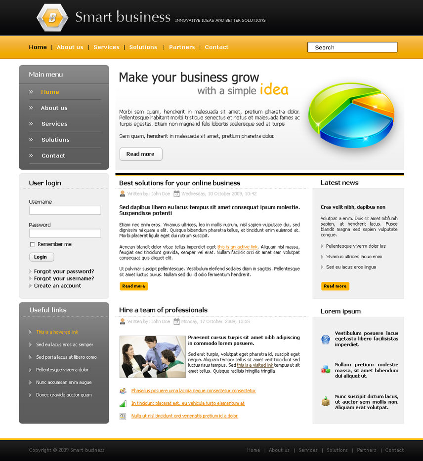 Free Made Business Website Template Psd: Fotolip.com Rich Image And Wallpaper