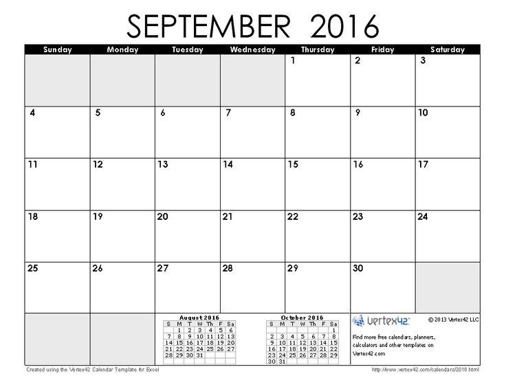 Calendar Planner September 2016 | Fotolip.com Rich image and wallpaper