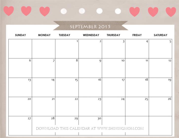 September 2016 Calendar Cute Fotolip.com Rich Image And Wallpaper
