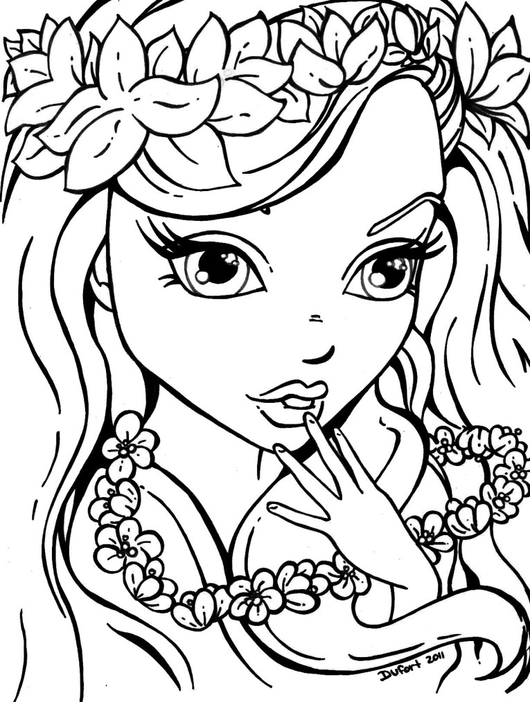 girls free coloring pages - photo#4