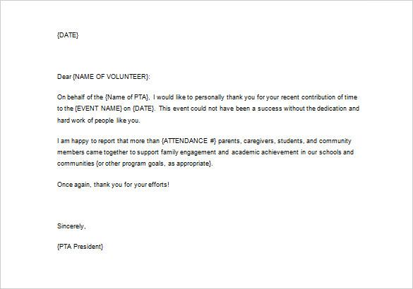 Volunteer Appreciation Letter Sample Fotolip