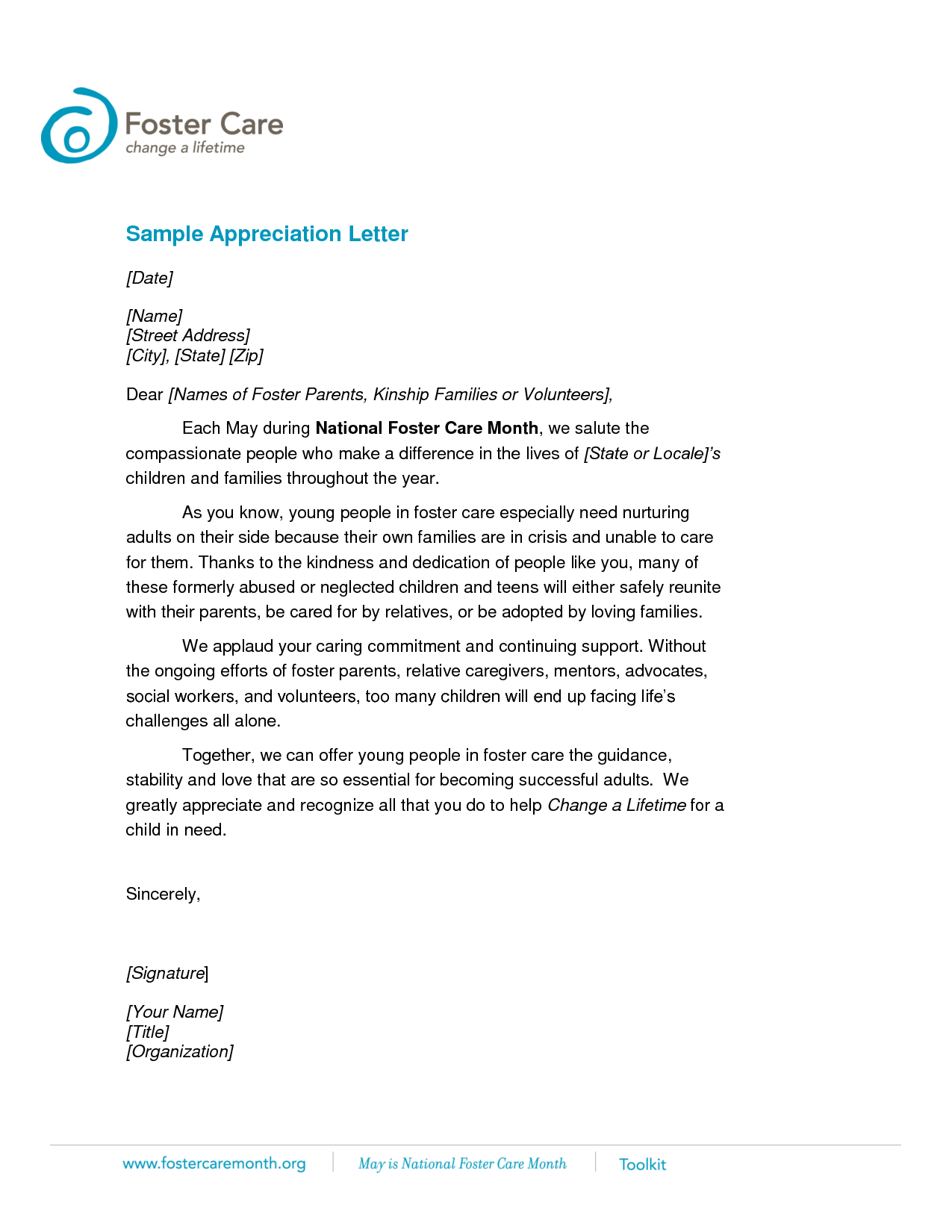 Letter of appreciation templates fieldstation altavistaventures Image collections