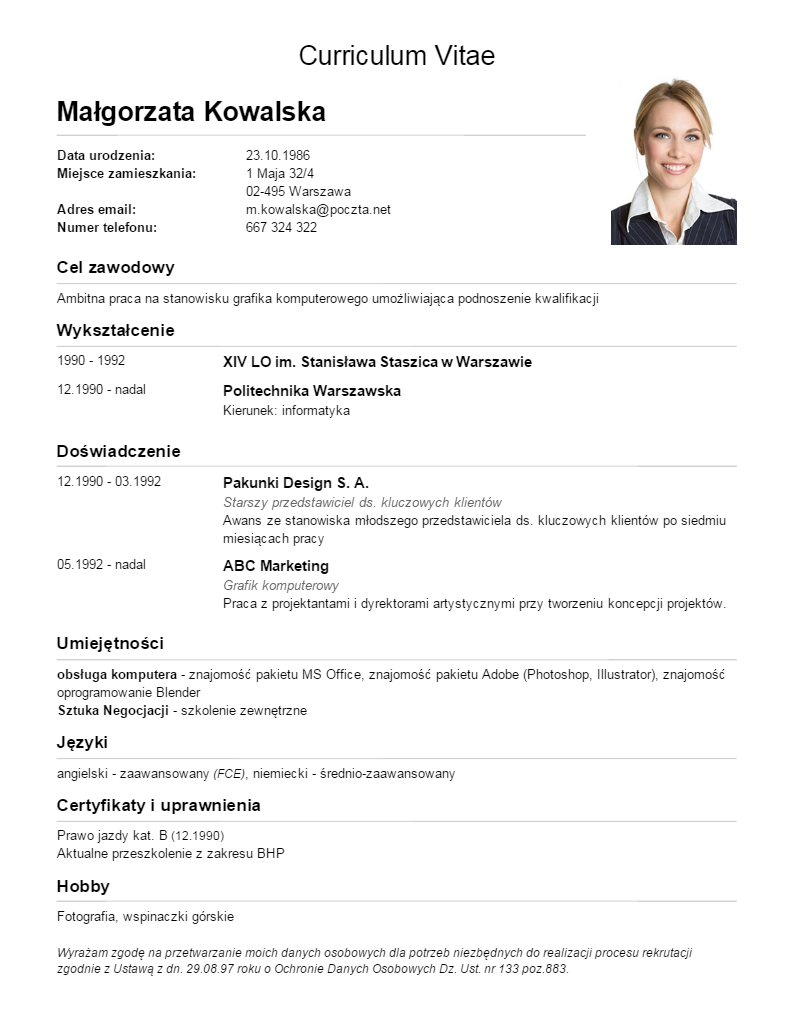 curriculum vitae com rich image and