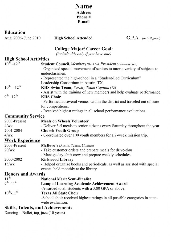 how do you proofread your high school resume