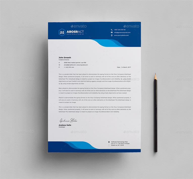 What Is A Letterhead Design Fotolip
