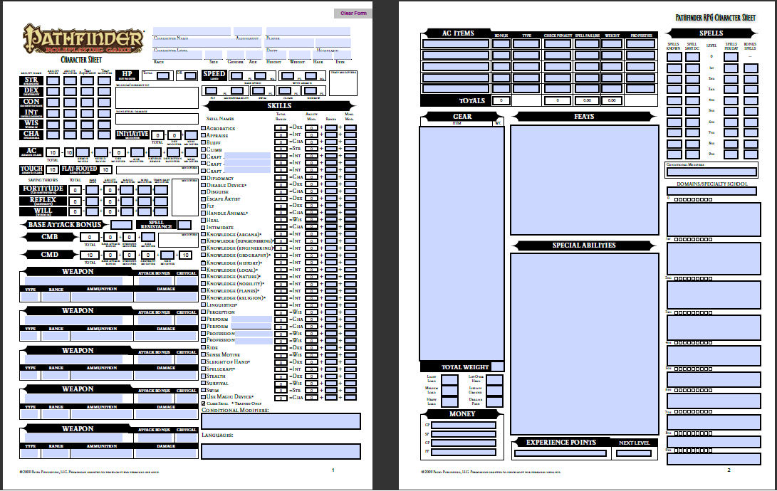 Pathfinder Character Sheet Fotolip Com Rich Image And