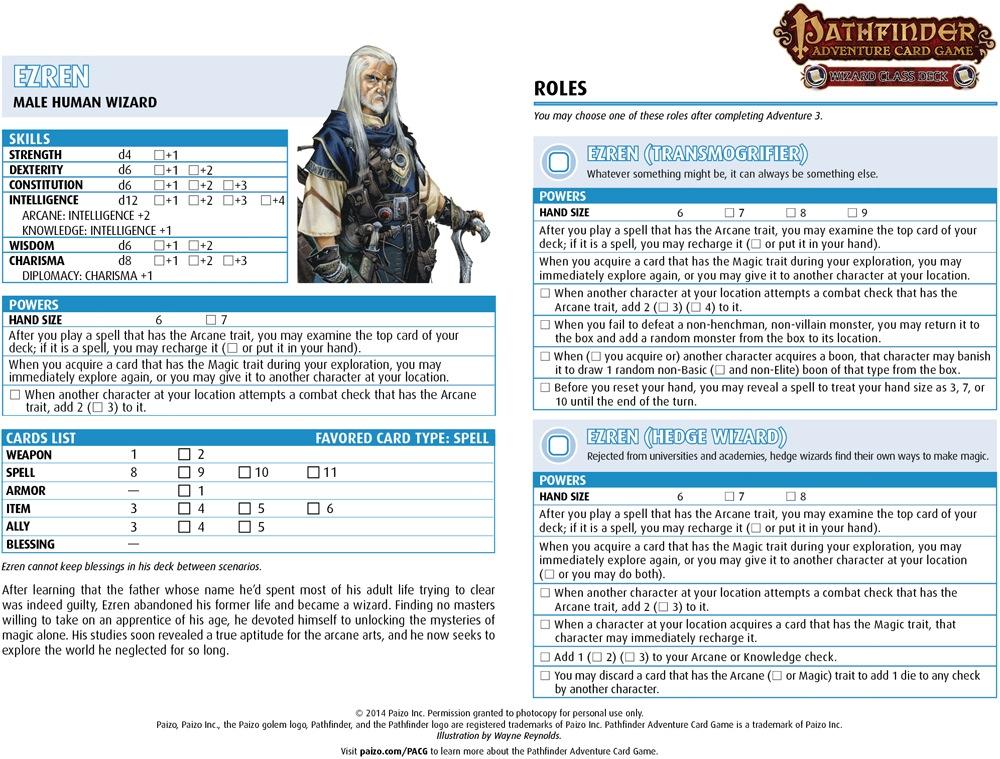 Pathfinder Character Sheet - Fotolip