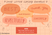 Letter Closing Examples