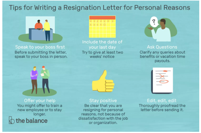Tips for Writing a Resignation Letter Because of Personal Reasons