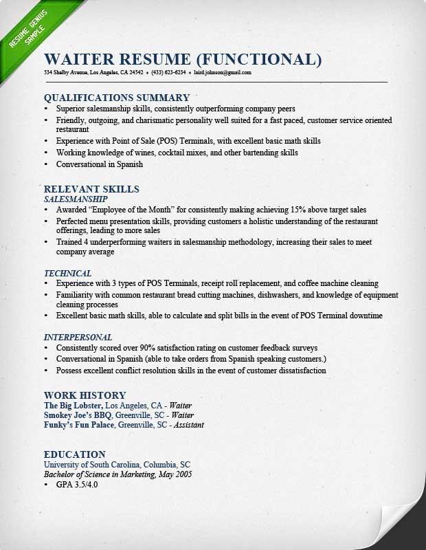 Functional Kind of Resume - resumegenious.com