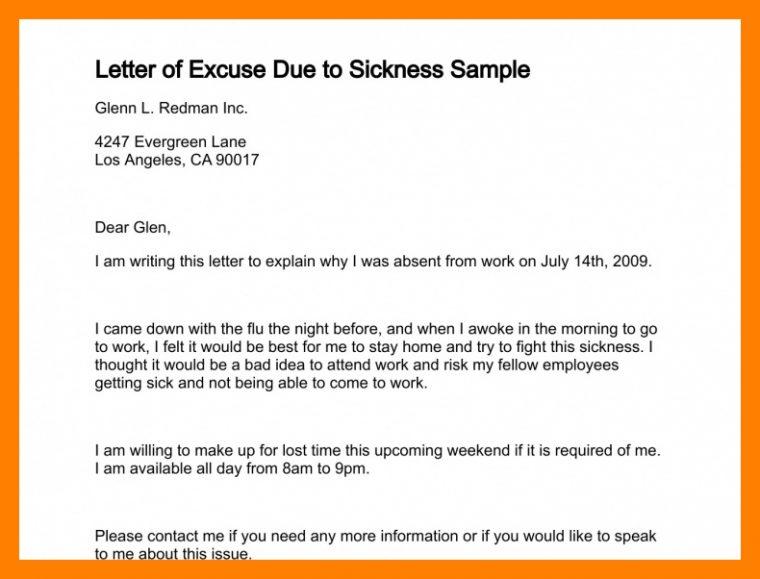 Excuse Letter - reinadelaselva.com