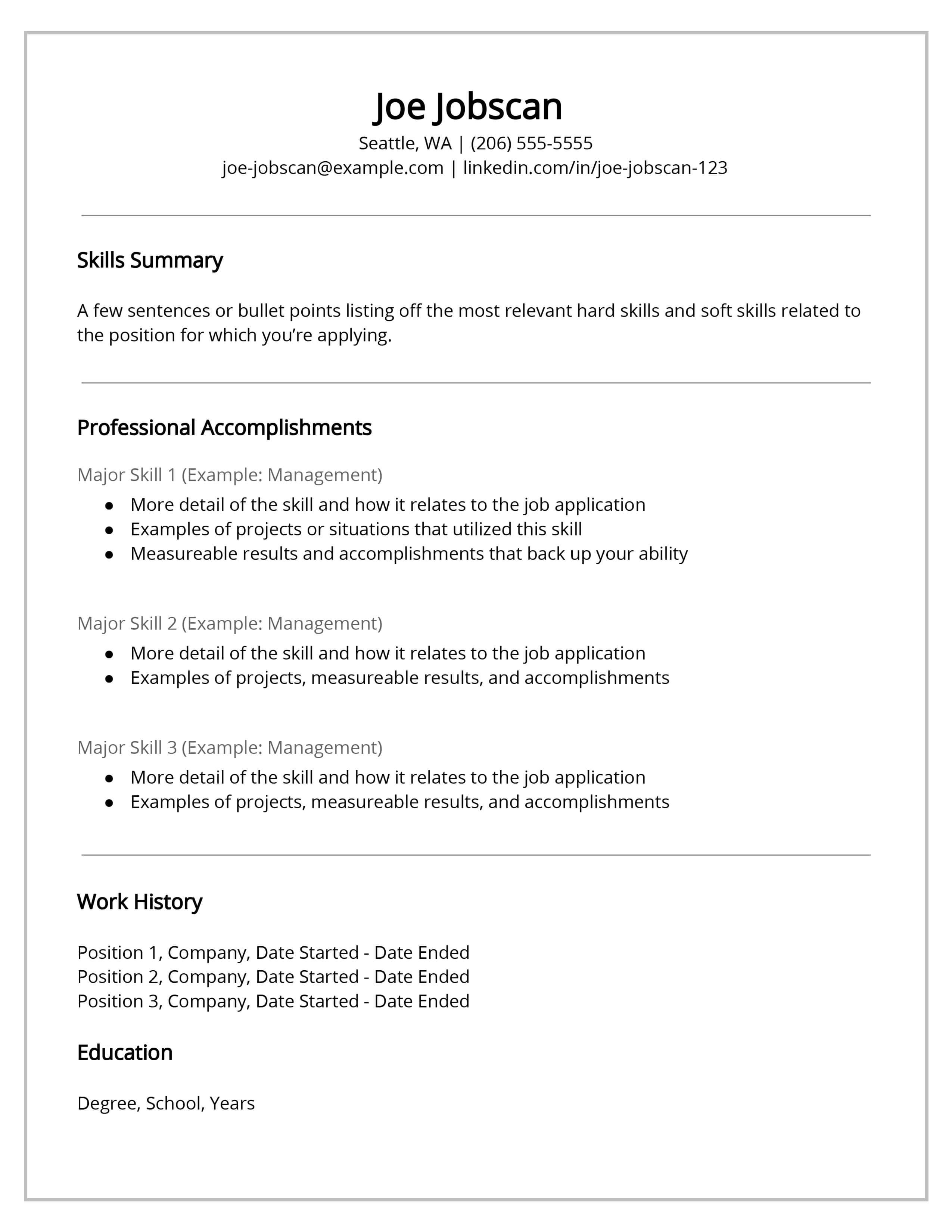Functional Resume - jobscan.co