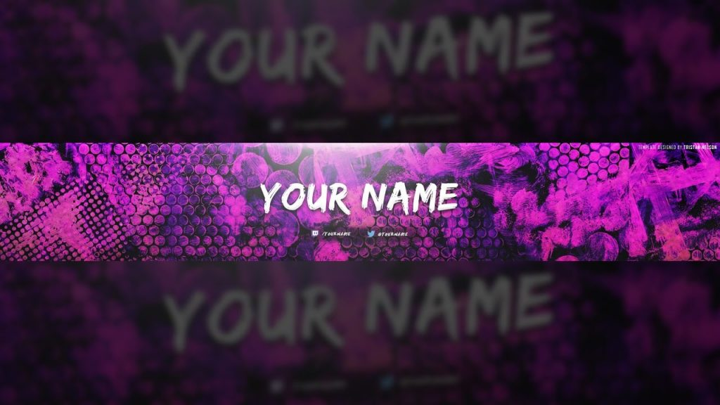 Purple Youtube Banner Template