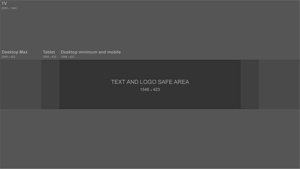 Grey Youtube Banner Template