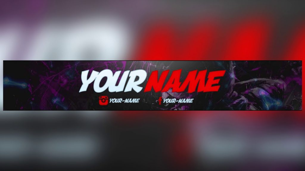 Red Youtube Banner Templates